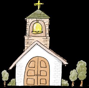 教会・ベル・挙式:結婚式・ウエディングのスタンプ素材