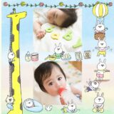 赤ちゃんの成長(誕生〜1歳頃)の無料フォトブックテンプレート&装飾スタンプ素材!