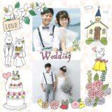 結婚式の無料フォトブックテンプレート&装飾スタンプ素材!