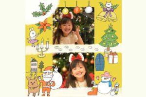クリスマスの無料フォトブックテンプレート&装飾スタンプ素材!
