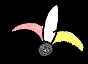 羽子板・羽付き・羽C:年賀・お正月のフォトブックスタンプ素材