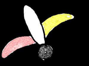 羽子板・羽付き・羽B:年賀・お正月のフォトブックスタンプ素材