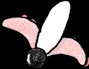 羽子板・羽付き・羽A:年賀・お正月のフォトブックスタンプ素材