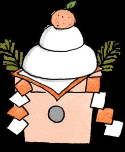 鏡餅:年賀・お正月のフォトブックスタンプ素材