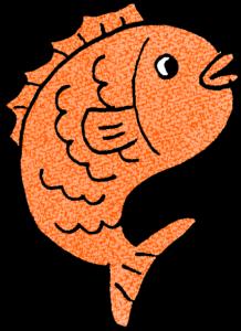 鯛・魚:年賀・お正月のフォトブックスタンプ素材