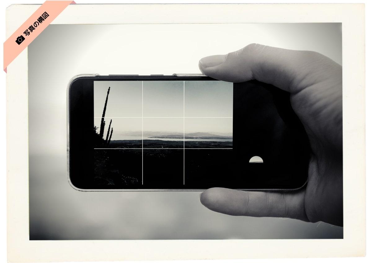 スマホカメラの場合のグリッド線表示方法